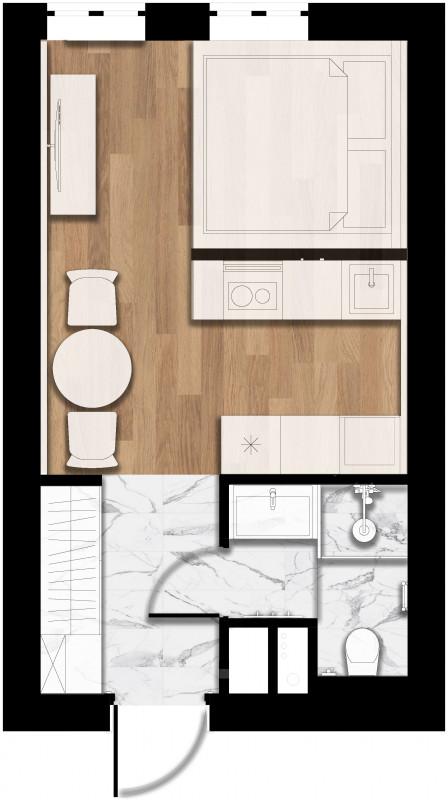Проект однокомнатной квартиры в г.Москва – Galkinstudio.ru