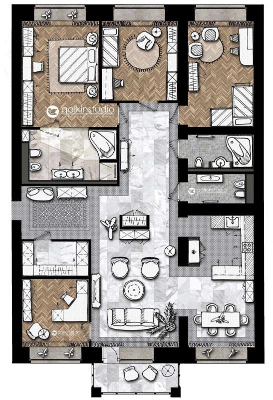 Квартира в ЖК LifePlaza в г.Тюмень – Galkinstudio.ru