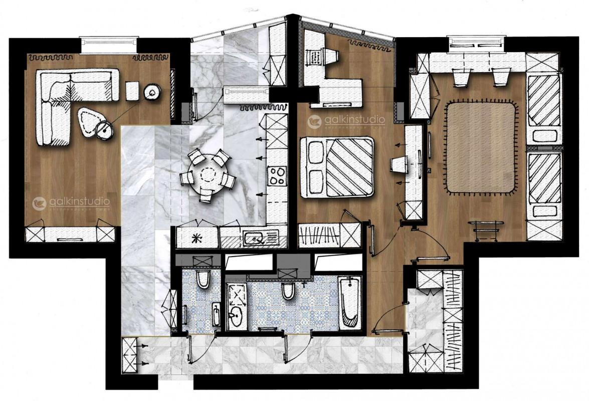 Квартира в ЖК Ривьера-Парк в г. Тюмени – Galkinstudio.ru