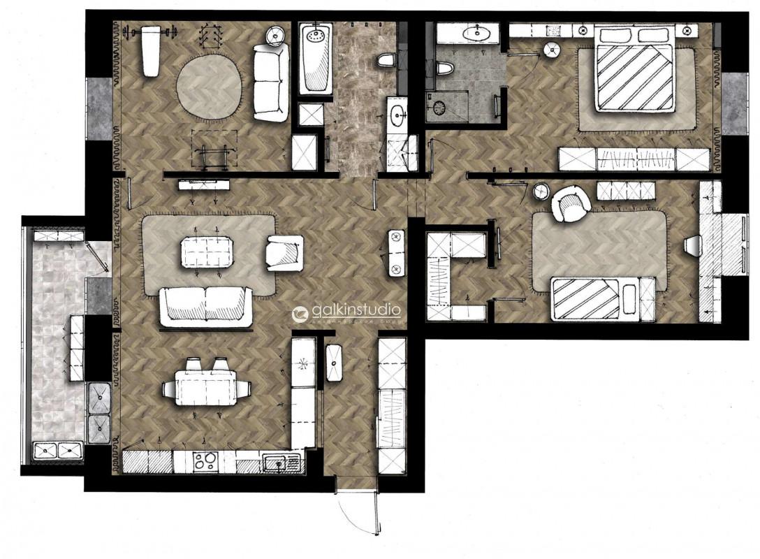 Квартира в жилом квартале Орион в г.Тюмень – Galkinstudio.ru