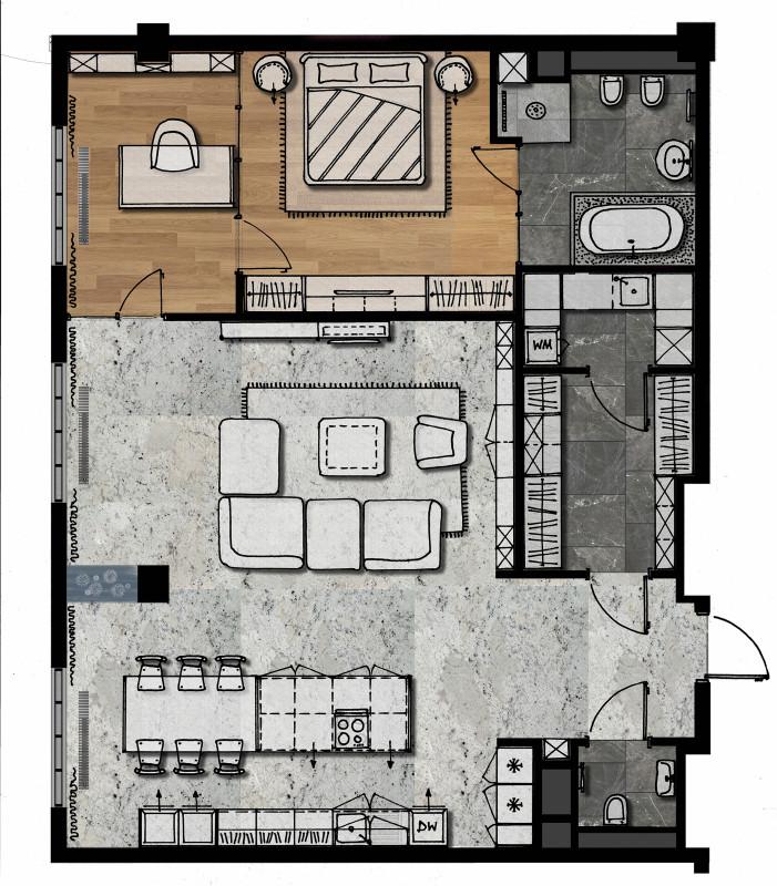 Конкурсный проект РБК. Квартира в г. Москва – Galkinstudio.ru